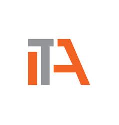 Ita letter logo vector