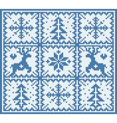 Knitting winter pattern vector image vector image