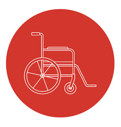 Line art style wheelchair icon vector