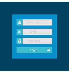 Login interface - username and password flat desi vector