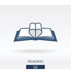 Love readinng concept icon logo vector image vector image