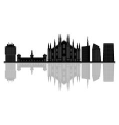 milan skyline vector image