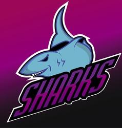 Modern professional sharks logo for a club vector