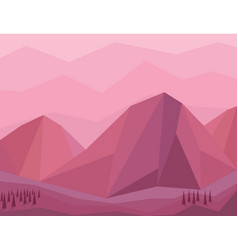 Mountain lanscape low poly vector