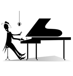 Pianist original silhouette vector image