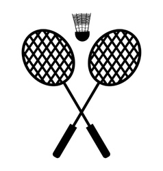 Playing badminton racket vector image vector image