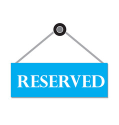 reserved sign booking badgereserved label on vector image vector image