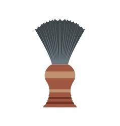 Shaving brush flat icon vector