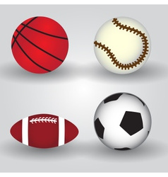 sport balls icon set eps10 vector image