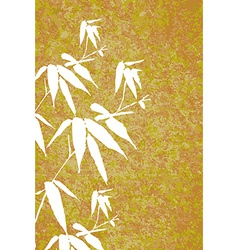 Zen Bamboo vintage painting poster vector image