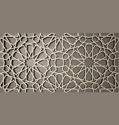 Background with 3d seamless pattern in Islamic vector image