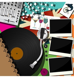 Dj party design vector