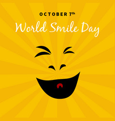 World smile day 2017 october 7th vector