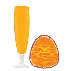 Passion fruit juices vector