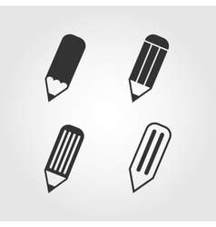 Pencil icons set flat design vector