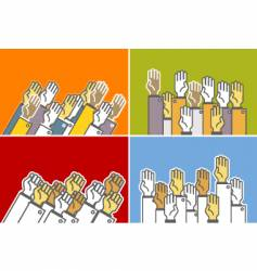 voting hands vector image