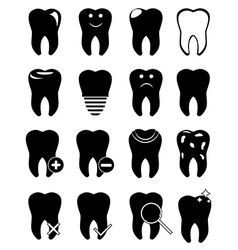 Teeth icons set vector