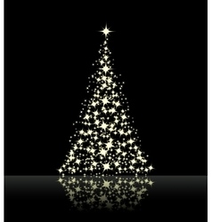 Christmas background black vector