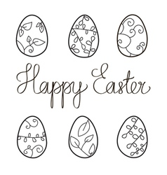 Stock happy easter isolated calligraphic vector