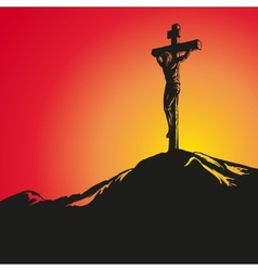 Jesus christ crucifiction hand drawn vector