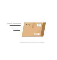 Fast delivery box service icon isolated on vector