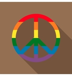 Pacific symbol in rainbow colors icon flat style vector