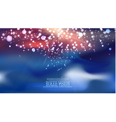 Abstract bokeh vision background design ii vector