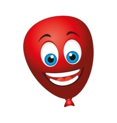 balloons air character icon vector image