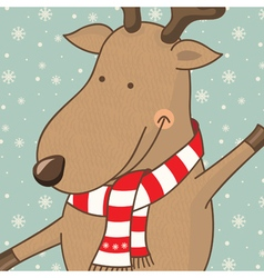 cartoon cute deer vector image vector image
