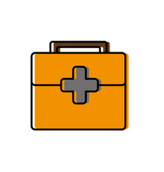 First aid box icon vector
