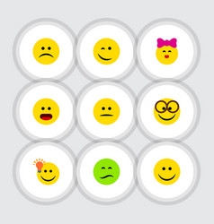 Flat icon emoji set of caress have an good vector