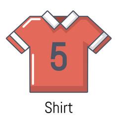 football shirt icon cartoon style vector image