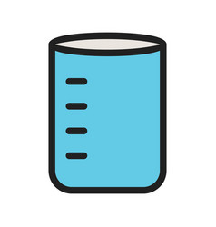 Glass beaker vector