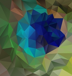 Green peacock plume polygon triangular pattern vector