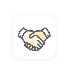 Handshake icon partnership shaking hands vector