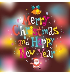 Merry christmas and happy new year greeting card 3 vector