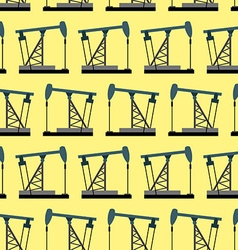 Oil rig seamless pattern Oil pump pumps oil vector image