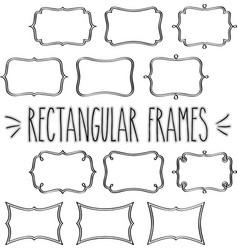 Rectangular frames hand sketch vector