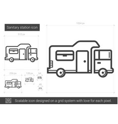 sanitary station line icon vector image