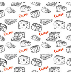 seamless pattern with cheese design element for vector image
