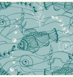 seamless underwater pattern vector image
