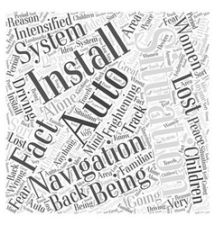 Why install an auto navigation system word cloud vector