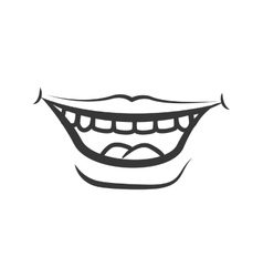 Mouth and smile icon part of boby design vector