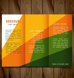 Colorful shapes trifold brochure design vector