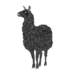 Decorative lama silhouette vector