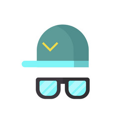 Fashion glasses and cool hat vector