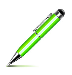 Green pen isolated on white vector