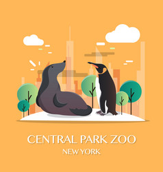New york landmark central park zoo vector