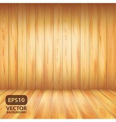 Wooden wall and floor vector