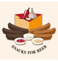 image of beer snacks vector image